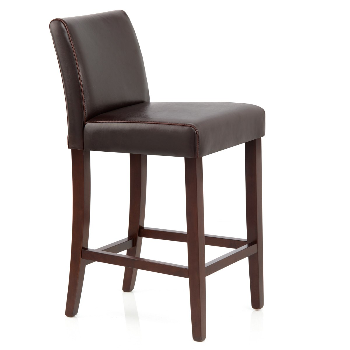Real Leather Breakfast Bar Stools Auction Stratos Walnut