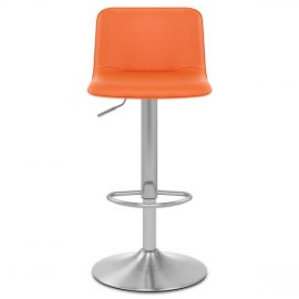 Cape Brushed Steel Stool Orange