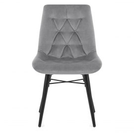 Roxy Dining Chair Grey Velvet