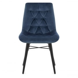Roxy Dining Chair Blue Velvet