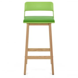 Echo Oak & Lime Green Bar Stool