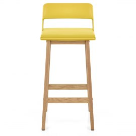 Echo Oak & Yellow Bar Stool