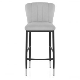 Coral Bar Stool Grey Velvet