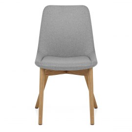 Kobe Dining Chair Oak & Light Grey