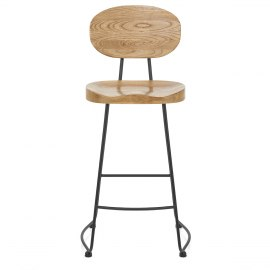 Dual Bar Stool Light Wood