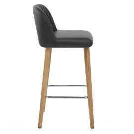 Pacific Wooden Stool Black