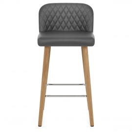 Pacific Wooden Stool Grey
