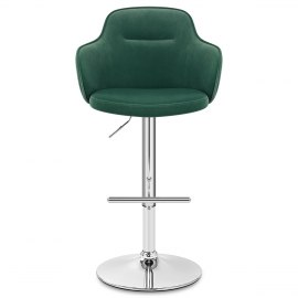 Vista Bar Stool Green Velvet