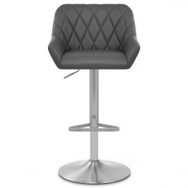 Detroit Brushed Stool Grey