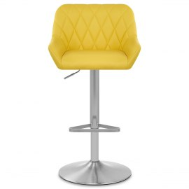 Detroit Brushed Stool Yellow