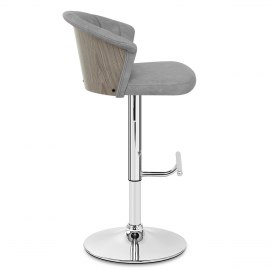 Symphony Bar Stool Antique Grey Leather