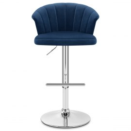 Symphony Bar Stool Blue Velvet