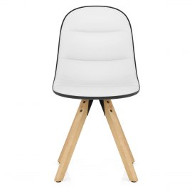 Ski Dining Chair White & Black