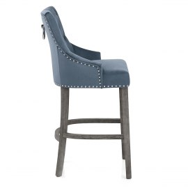 Ascot Bar Stool Blue Fabric