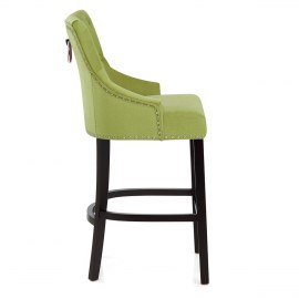 Ascot Bar Stool Green Fabric