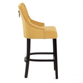 Ascot Bar Stool Mustard Fabric