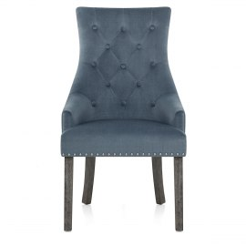 Ascot Dining Chair Blue Fabric