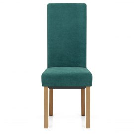 Carolina Dining Chair Teal Fabric
