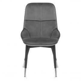 Dallas Dining Chair Grey Velvet