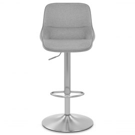 Florida Brushed Stool Grey Fabric
