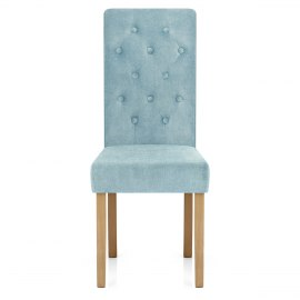 Portland Dining Chair Blue Fabric