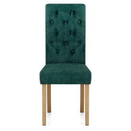 Portland Dining Chair Green Velvet