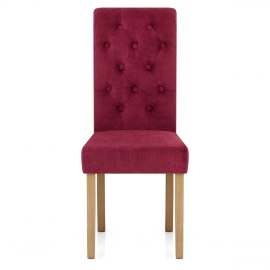 Portland Dining Chair Red Fabric