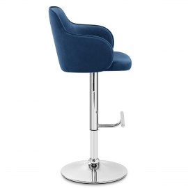 Vista Bar Stool Blue Velvet