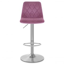 Melody Brushed Stool Purple Velvet
