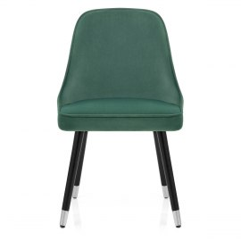 Glam Dining Chair Green Velvet