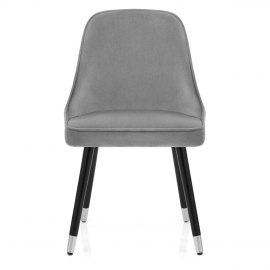 Glam Dining Chair Grey Velvet