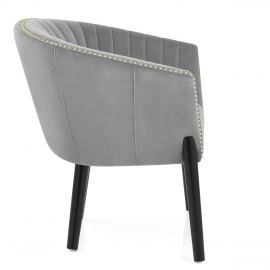 Overture Chair Grey Velvet