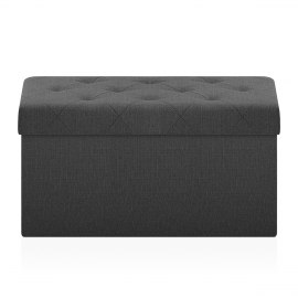 Pandora Foldable Ottoman Black Fabric