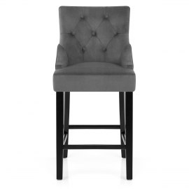 Loxley Stool Grey Velvet