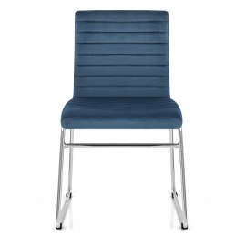 Panache Dining Chair Blue Velvet