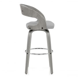 Alicia Grey Wooden Stool