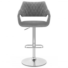 Fairfield Bar Stool Grey Velvet