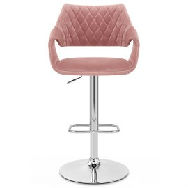 Fairfield Bar Stool Pink Velvet