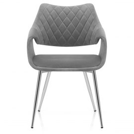 Fairfield Chrome Chair Grey Velvet