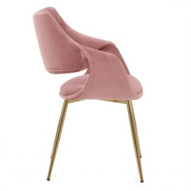 Fairfield Gold Chair Pink Velvet