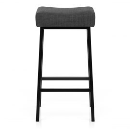 Uno Bar Stool Charcoal Fabric