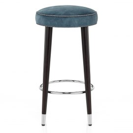 Conrad Bar Stool Antique Blue Velvet