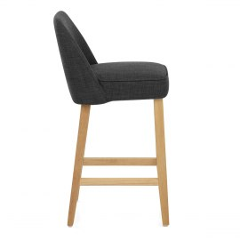 Cameo Wooden Stool Charcoal