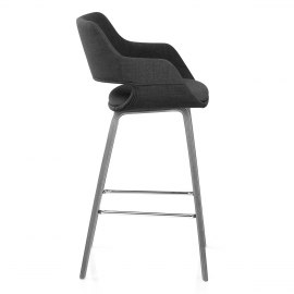 Nappa Bar Stool Charcoal Fabric