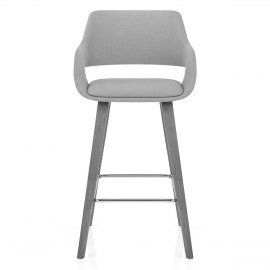 Nappa Bar Stool Grey Fabric