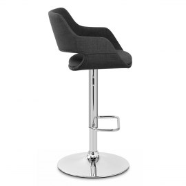 Nuevo Bar Stool Charcoal Fabric