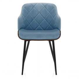 Dakota Dining Chair Blue Velvet