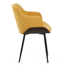 Dakota Dining Chair Mustard Velvet