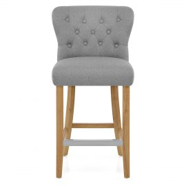 Windsor Bar Stool Grey Fabric