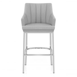 Orion Bar Stool Grey Fabric